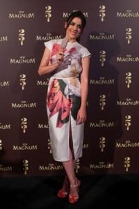 Adriana Ugarte con vestido de la colección spring-summer 2014 de Juan Vidal_2