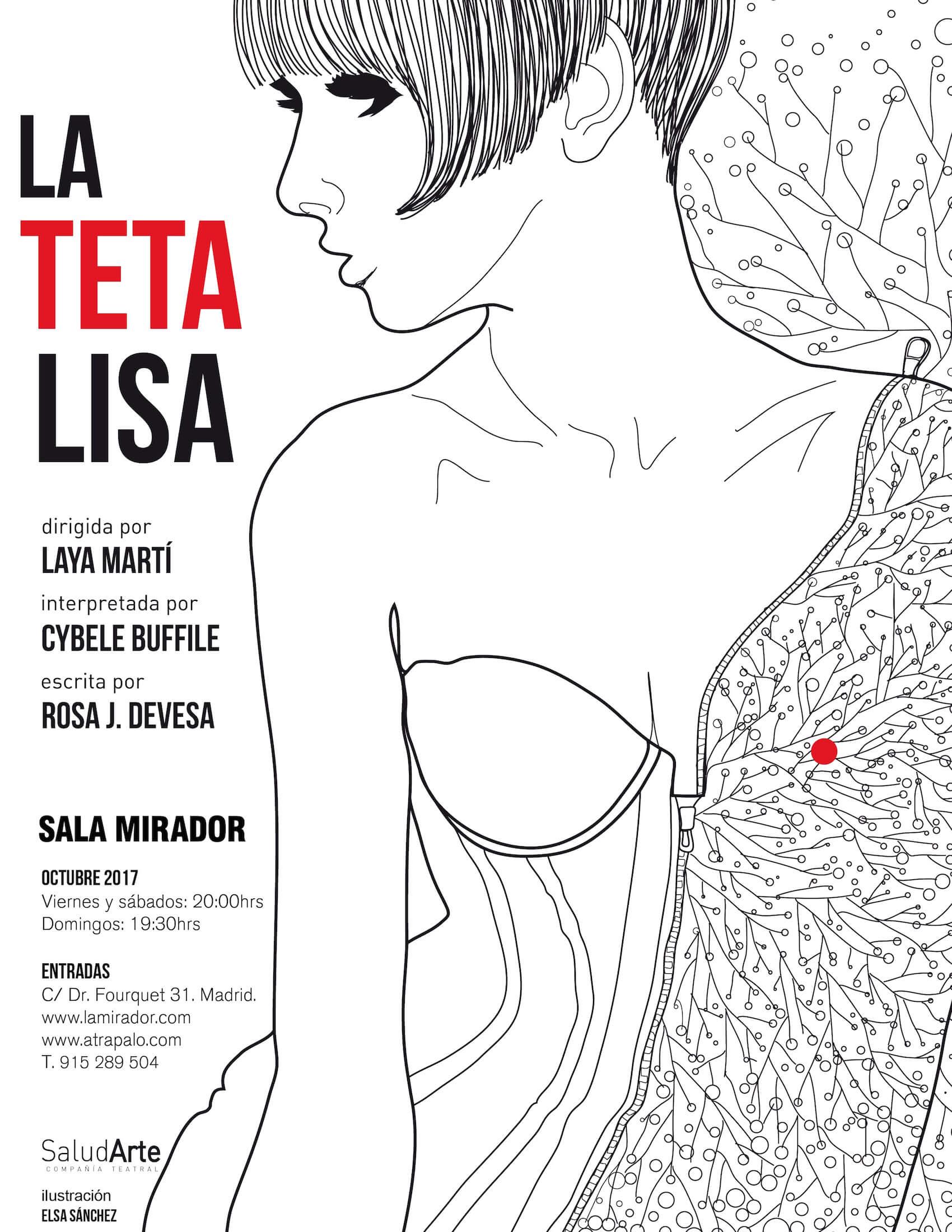 Cartel_LaTetaLisa, ilustración Elsa Sánchez