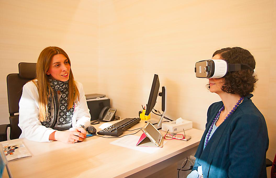 Realidad virtual a través de gafas