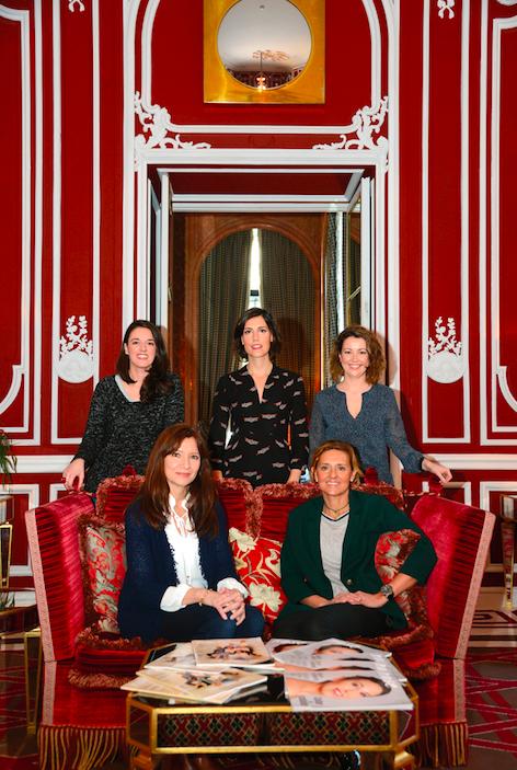 Arriba: Magali Dousson, Marta de la Fuente, Fátima Castaño Abajo: Patricia Bresonelos, María Zavala.