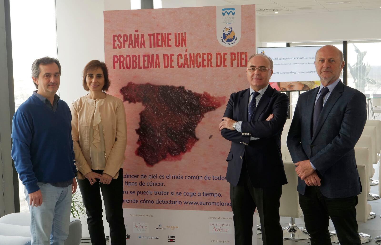 Dr. Eduardo Nagore, Dra.Yolanda Gilaberte, Dr. Pedro Jaén y Dr. Agustín Buendía. Cáncer de piel Euromelanoma